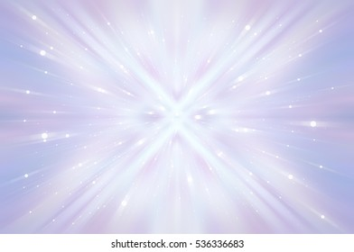 Abstract fractal blue background with crossing circles and ovals. disco lights. motion illustration.
