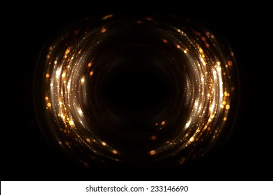 Abstract fractal brown background with crossing circles and ovals. disco lights background.