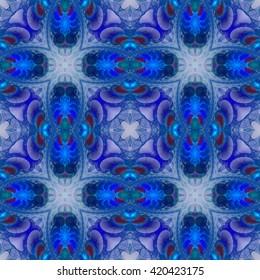 Abstract fractal design. Abstract texture. Kaleidoscope effect. Seamless pattern