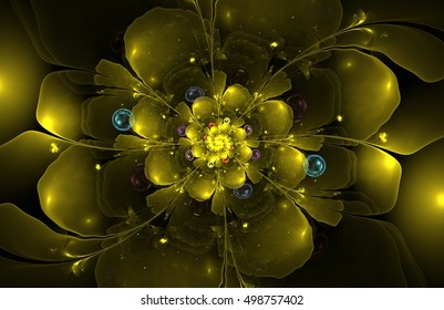 abstract fractal flower computer generated image