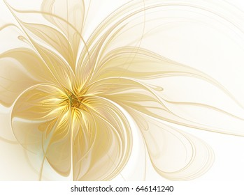 Abstract fractal flower on a light background