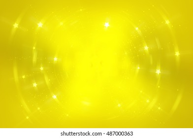 Abstract fractal golden background with crossing circles and ovals. disco lights. motion illustration.