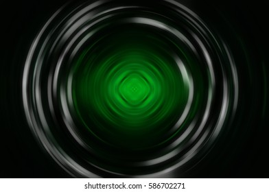 Abstract fractal green background with crossing circles and oval. motion illustration.