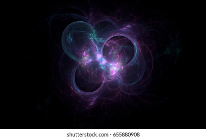 Abstract fractal illustrated background rendered wallpaper