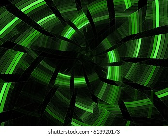abstract fractal mosaic swirl. crossed light lines