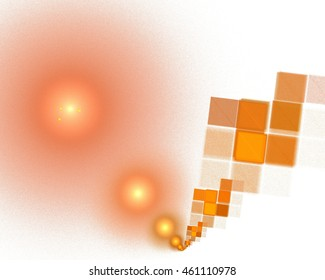 abstract fractal pattern - balls and pixels