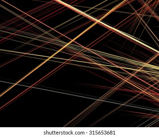 abstract fractal pattern - laser beams on black background