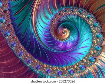 Abstract fractal patterns and shapes. Fractal texture. For Puzzle or Tie prints or other prints.