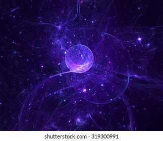 Abstract fractal patterns and shapes. Fractal texture. The colors in the series, Fancy paint. Background consists of fractal color texture.