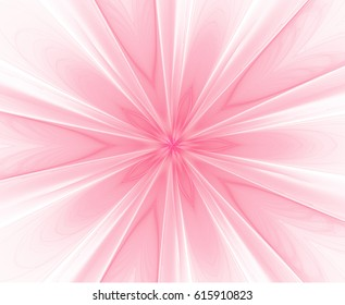 Abstract fractal pink flower with rays