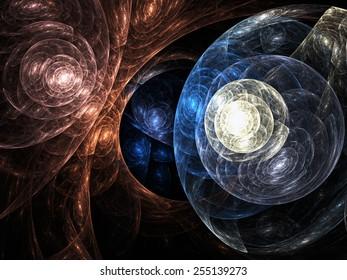 Abstract fractal web, digital artwork for creative graphic design