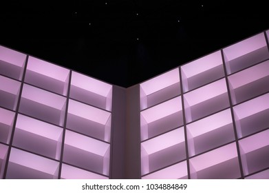 an abstract fragment of futuristic lighting in a hall