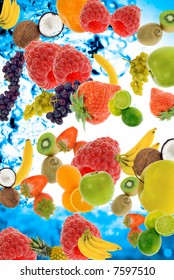 abstract fresh summer fruit concept for backgrounds