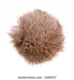 abstract fur ball, isolated
