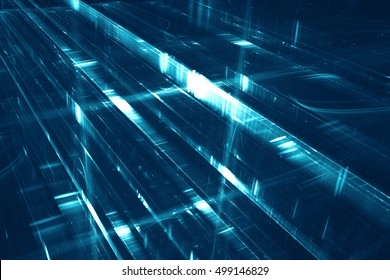 Abstract futuristic background - 3D illustration