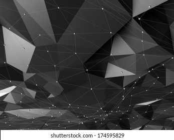 abstract futuristic crysta greyl background
