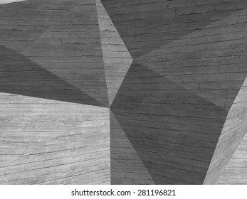 Abstract geometric background. Concrete wall