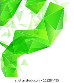 Abstract geometric background. Simple green shapes.