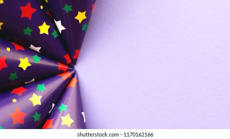 Abstract geometric background with stars. Festive holiday backdrop for your design.