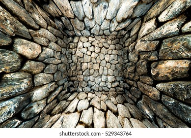 Abstract geometric background of stones