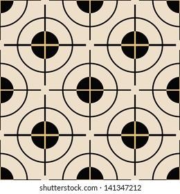 Abstract geometric circle seamless pattern