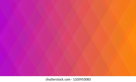 Abstract geometric colorful background with gradient rhombus from pink to orange.