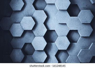 Abstract geometric concrete wall texture.
