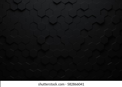 Abstract geometric hexagonal background. Grunge surface, 3d rendering