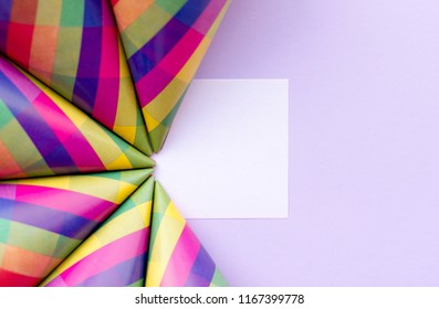 Abstract geometric paper background . Festive holiday backdrop for your design.