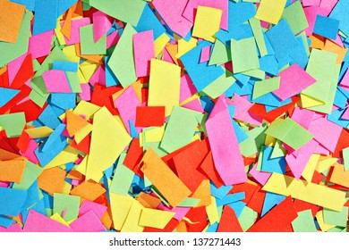 Abstract geometric paper scraps texture