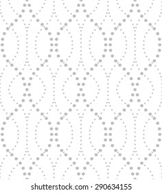 Abstract geometric pattern by the points. A seamless  background. Gray and white texture.