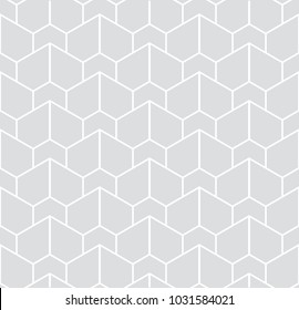 Abstract geometric pattern with stripes, lines. A seamless background. Gray and white texture. Graphic modern pattern