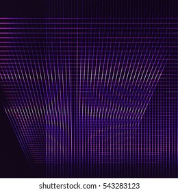 Abstract Geometric Pattern with Stripes. Wicker Structural Texture. Violet Optical Illusion. Digital Technology Background. Raster. 3D Illustration