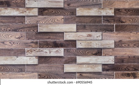 Abstract, geometric pattern of wooden slats