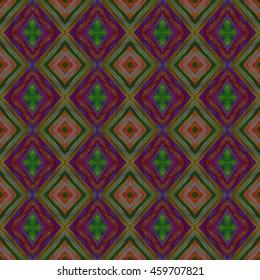 Abstract geometric seamless pattern handmade ethnic and tribal motifs. Bohemian ethnic tile printing.