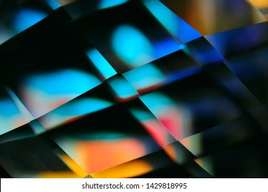 abstract geometric shapes in the refraction of a glass prism