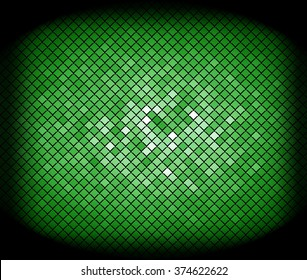 Abstract geometric triangles in a square of bright green colorful backgrounds, illustration