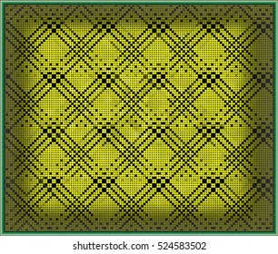 Abstract geometric triangles in a square of bright yellow colorful backgrounds, illustration