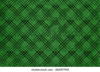 Abstract geometric triangles in a square green background illustration