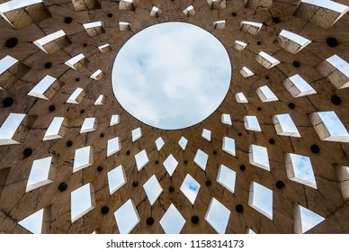 Abstract geometrical ceiling