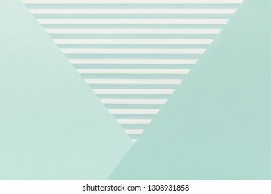 Abstract geometrical pastel baby blue color flat lay background. Minimalism, geometry and symmetry template.