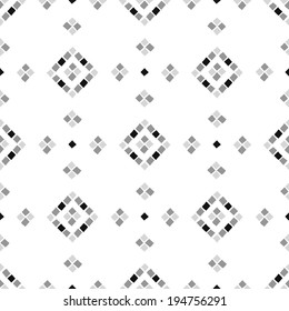 Abstract geometrical pattern with mosaic elements. Ethnic ornament.