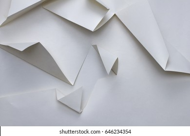 abstract geometry triangle paper texture