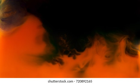Abstract ghost of ink. Devil monster in hell fire. In water