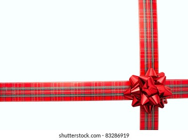 Abstract Gift with Ribbon and Space for Text