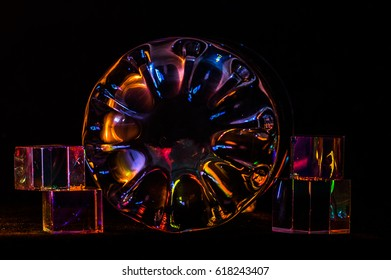 Abstract glass concept showing refracted light in all its beautiful variations