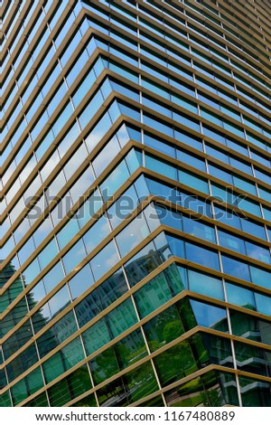 Glass exterior modern office Skyscraper Abstract Glass Exterior Of Modern Office Building In Downtown Singapore With Symmetrical Patterns Reflections And Shutterstock Abstract Glass Exterior Modern Office Building Stock Photo edit Now