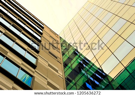 Glass exterior modern office Facade Abstract Glass Exterior Of Modern Office Building In Downtown Singapore With Symmetrical Patterns Reflections And Shutterstock Abstract Glass Exterior Modern Office Building Stock Photo edit Now