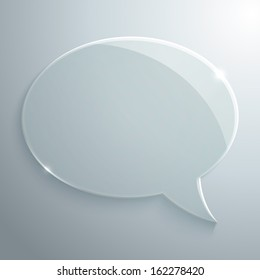 Abstract glass speech bubble  background for your own design