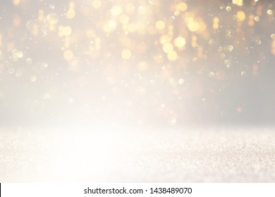 abstract glitter lights background. silver and white. de-focused
